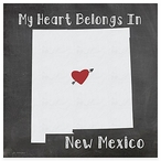 My Heart Belongs In New Mexico Absorbent Beverage Coasters, Set of 8