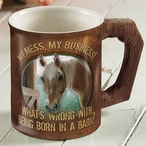 My Mess, My Business Horse Sculpted Stoneware Coffee Mugs, Set of 6