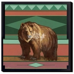 Mystique Grizzly Bear Wrapped Canvas Giclee Print Wall Art