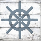 Nautical Elements Ship Wheel III Wrapped Canvas Giclee Print