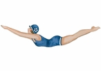 Navy Color Diving Girl Vintage Style Cutout Metal Sign