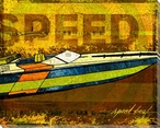 Need Speed Boat Wrapped Canvas Giclee Print Wall Art