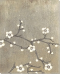 Neutral Cherry Blossom Flowers II Wrapped Canvas Giclee Print