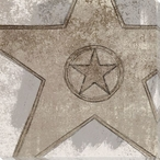 Neutral Hollywood Walk of Fame Star Wrapped Canvas Giclee Print