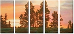 New Day Cowboy Wrapped Canvas Giclee Print Wall Art, Set of 5
