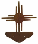 New Mexico Sun Double Metal Wall Hook