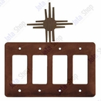 New Mexico Sun Quad Rocker Metal Switch Plate Cover