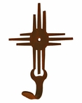New Mexico Sun Small Single Metal Wall Hook