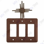 New Mexico Sun Triple Rocker Metal Switch Plate Cover