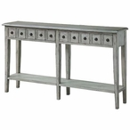 Newcastle 2 Drawer Antique White Wood Console Table
