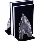 Nickel Leaf Bookends, 2 Sets
