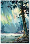 Night Light Northern Lights Wrapped Canvas Giclee Print Wall Art