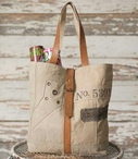 No. 5301 Canvas and Leather Tote Bag