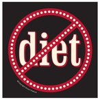 No Diets Absorbent Beverage Coasters by Simon and Kabuki, Set of 8