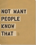 Not Many People... Saying Wrapped Canvas Giclee Print Wall Art
