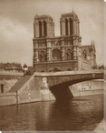 Notre Dame Cathedral Riverview Wrapped Canvas Giclee Print