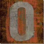 Number Key 0 Wrapped Canvas Giclee Print Wall Art
