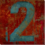 Number Key 2 Wrapped Canvas Giclee Print Wall Art