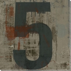 Number Key 5 Wrapped Canvas Giclee Print Wall Art