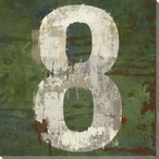 Number Key 8 Wrapped Canvas Giclee Print Wall Art