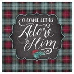 O Come Let Us Adore Him Absorbent Beverage Coasters, Set of 12