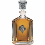 Oak Leaf Capitol Glass Decanter with Pewter Accents