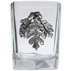 Oak Leaf Pewter Accent Shot Glasses, Set of 4