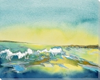 Ocean Waves Wrapped Canvas Giclee Print Wall Art
