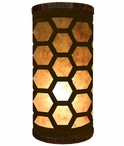 Octagon Metal Cylinder Pillar Table Lamp