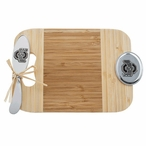 Ohio State University Buckeyes Bamboo Mini Serving Board and Spreader