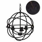 Oil Bronze Global Metal Pendant Lamp Light