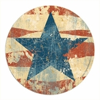 Old Glory Sandstone Round Beverage Coasters by John Zaccheo, Set of 8