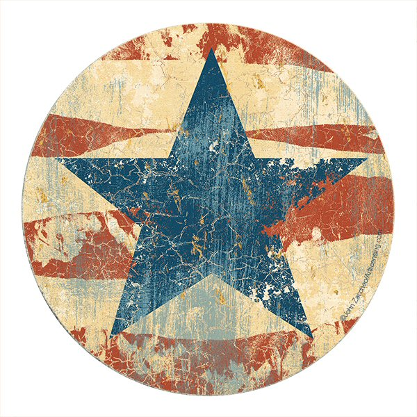 Old glory sandstone round beverage coasters by john zaccheo set of 8 drink coasters - Stone coasters for drinks ...