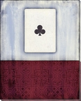 Old Hand Ace of Clubs Card Wrapped Canvas Giclee Print Wall Art