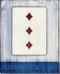 Old Hand Three of Diamonds Card Wrapped Canvas Giclee Print
