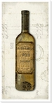 Old Wine Bottle Chardonnay Wrapped Canvas Giclee Print Wall Art