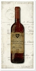 Old Wine Bottle Pinot Noir Wrapped Canvas Giclee Print Wall Art