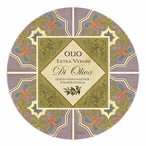 Oliva Collection Sandstone Round Beverage Coasters, Set of 8