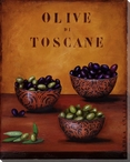 Olive di Toscane Olives Wrapped Canvas Giclee Print Wall Art