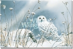 On the North Wind Snowy Owl Bird Wrapped Canvas Giclee Wall Art