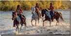 On the Shimmering Trail Indians Wrapped Canvas Giclee Wall Art