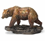 One Step at a Time Grizzly Bear Hand Painted Sculpture