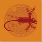 Orange Fly 3 Wrapped Canvas Giclee Print Wall Art