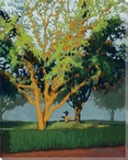 Orange Tree Wrapped Canvas Giclee Print Wall Art
