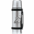 Orca Whale Stainless Steel Thermos with Pewter Accent