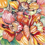 Orchid Flowers Wrapped Canvas Giclee Print Wall Art