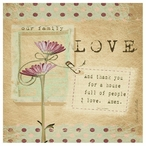 Our Family Love Absorbent Beverage Coasters by Grace Pullen, Set of 12