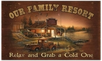 Our Family Resort Wood Sign