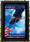 Our Glory Bald Eagle Bird Stained Glass Wall Art