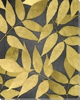 Overlapping Leaves Night 2 Wrapped Canvas Giclee Art Print Wall Art
